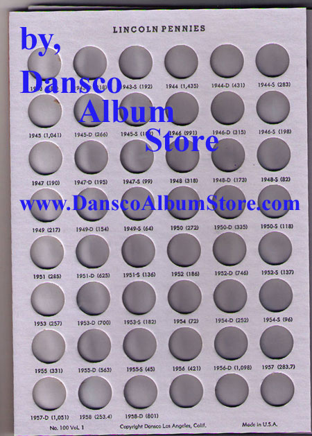 Lincoln Penny Cents 1909 to Date 2 Vol Dansco ALL IN ONE Coin Folder